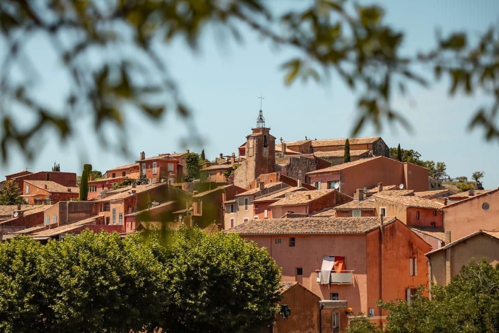 voir le plus beau village du Luberon Roussillon