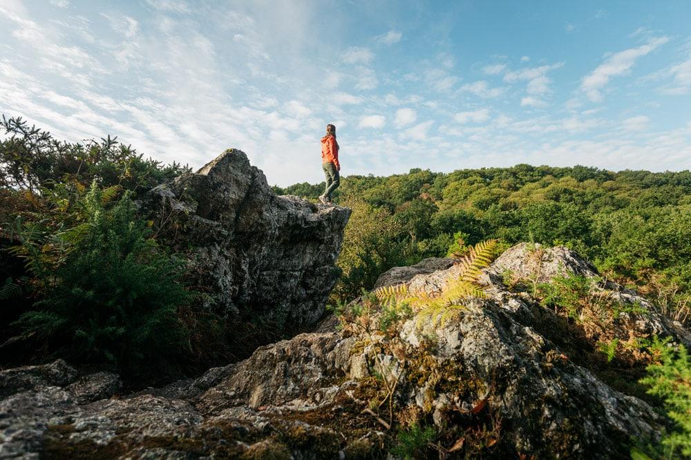 faire en Haute-Bretagne randonnée Saut Roland