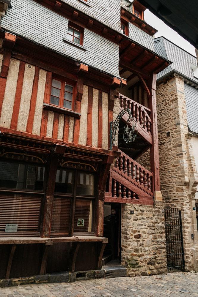 anciennes maisons Moyen-Age cité médiévale Vitré