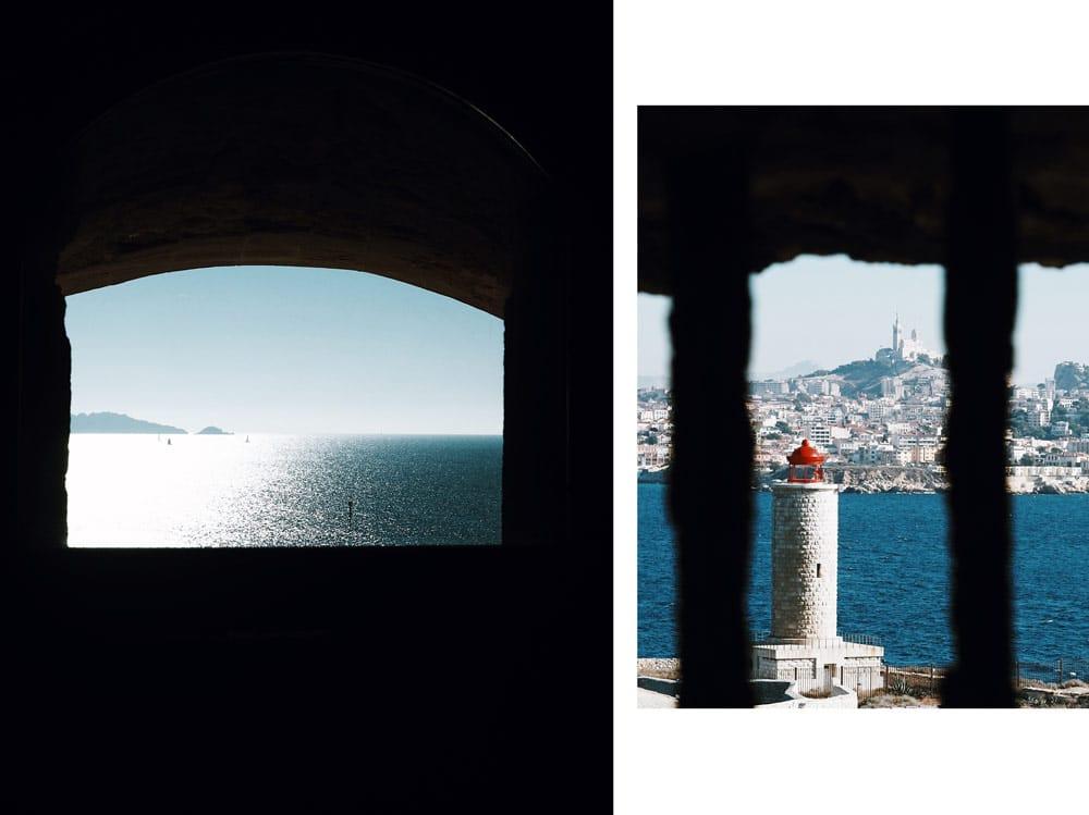 la plus belle vue sur Marseille depuis iles Frioul If