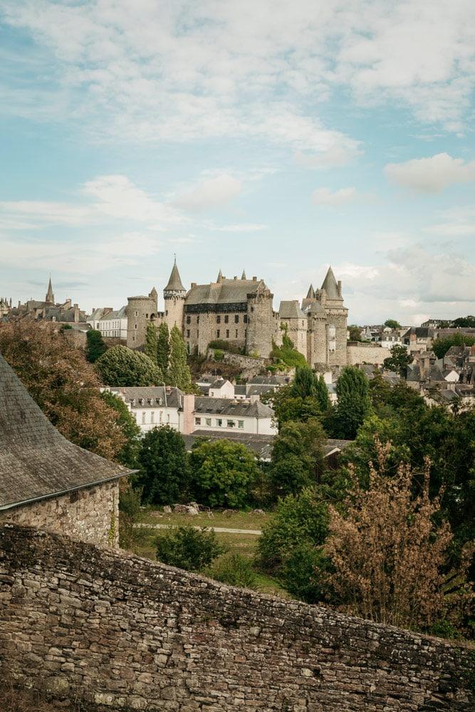 meilleur panorama sur château de Vitré Bretagne