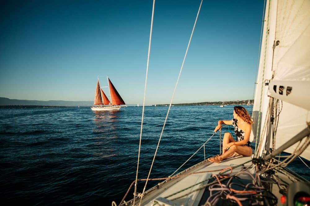faire une sortie bateau sur le lac Léman Genève