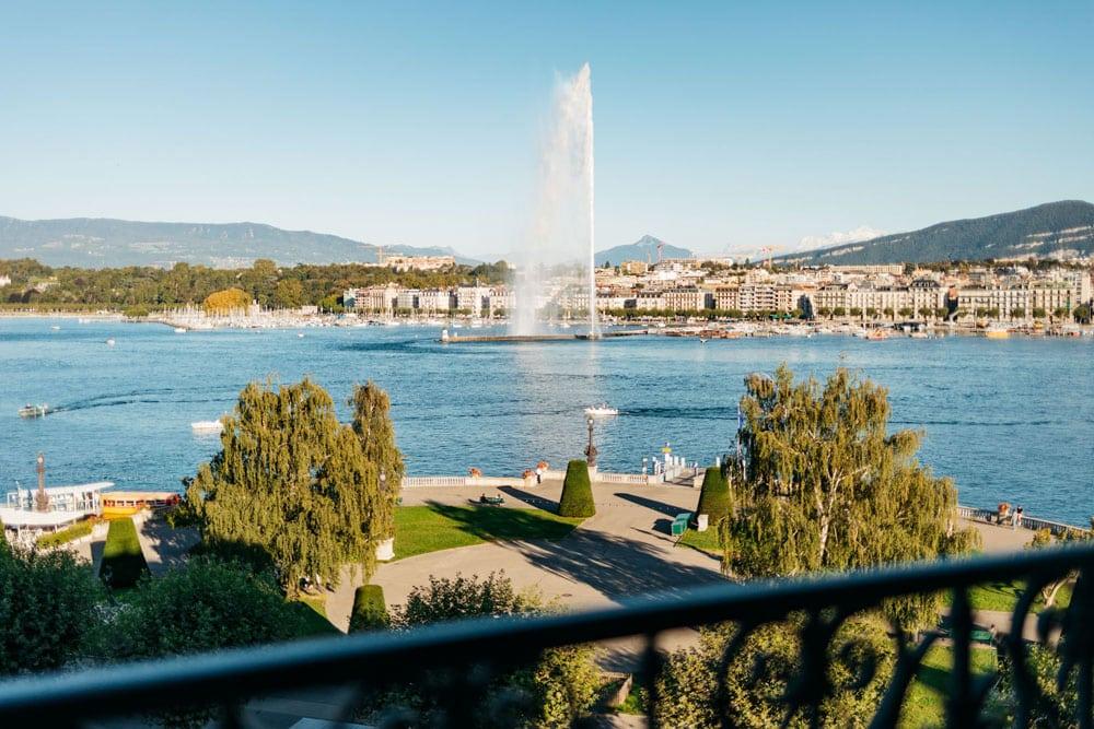 jet d'eau quai Mont Blanc Genève week-end nature à Genève