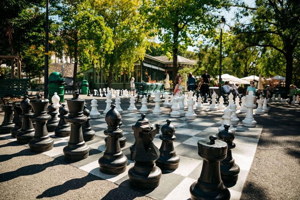 jeux d échecs géants Genève parc des bastions week-end en Suisse
