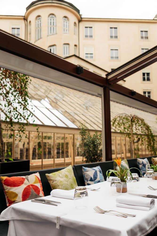 manger en terrasse a Genève restaurant gourmet