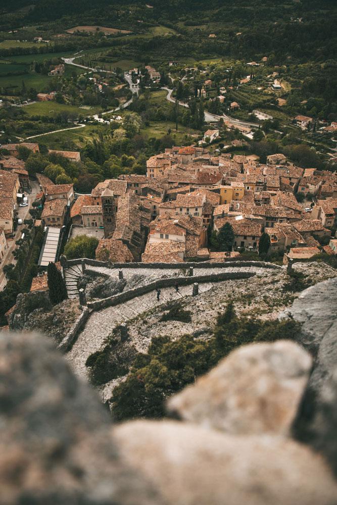 panorama depuis la chapelle de Moustiers