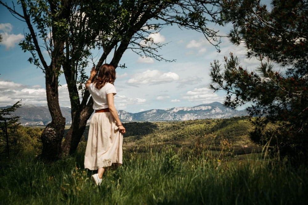 panorama sur les montagnes du Verdon à Riez