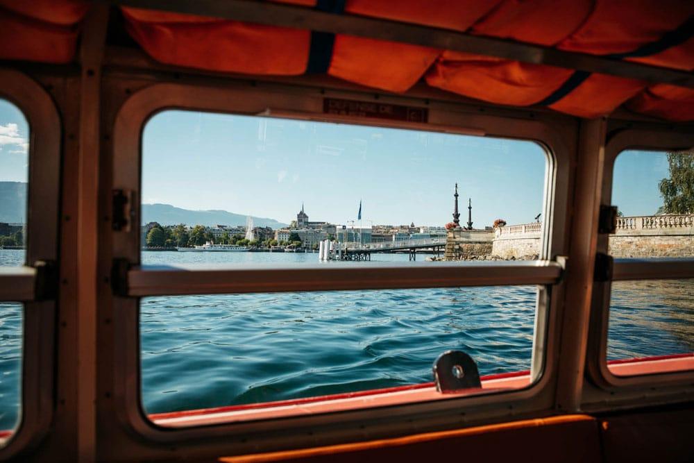 prendre le bateau mouettes genevoises week-end nature à Genève