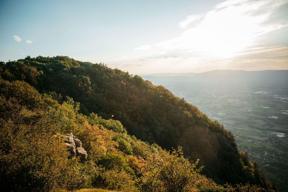 promenade facile nature au dessus de Genève week-end