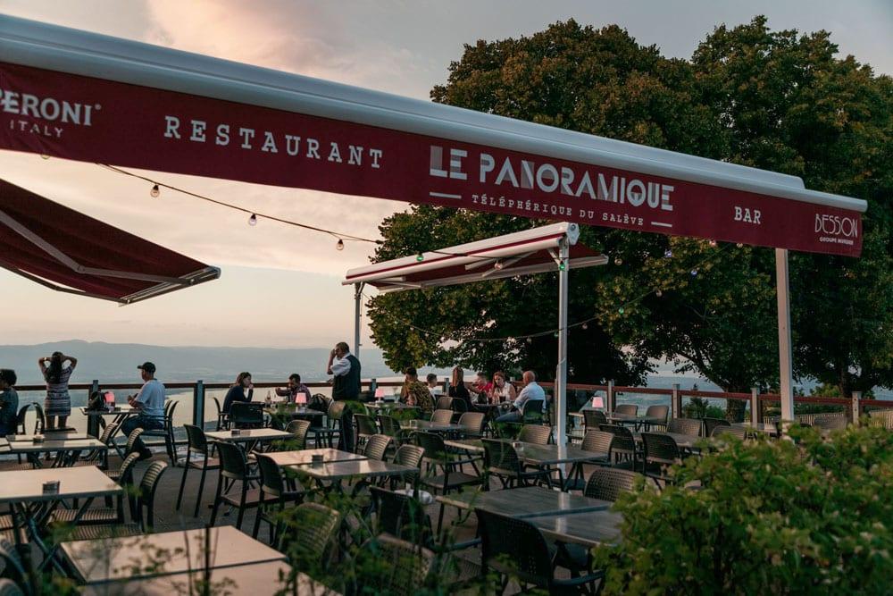 restaurant panoramique sur Genève et lac Léman week-end nature