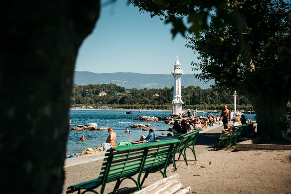 se détendre aux Bains des Pâquis week-end nature à Genève