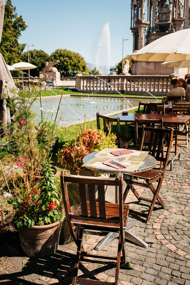 terrasse de rêve au cottage café Genève