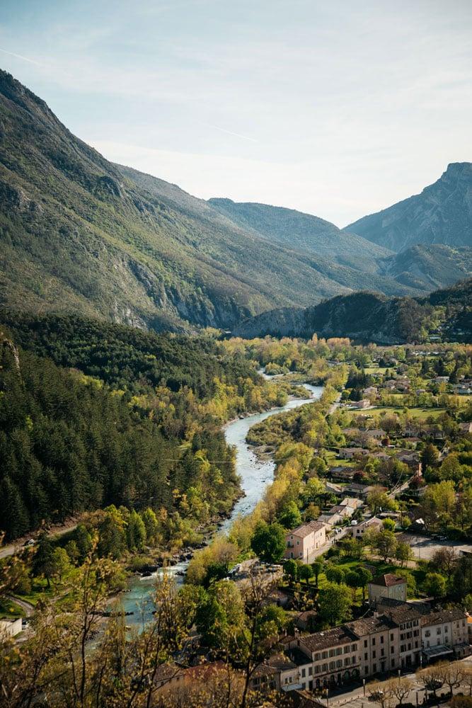 village près des gorges du verdon Castellane