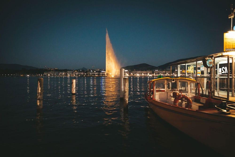 visiter Genève la nuit lac Léman week-end nature