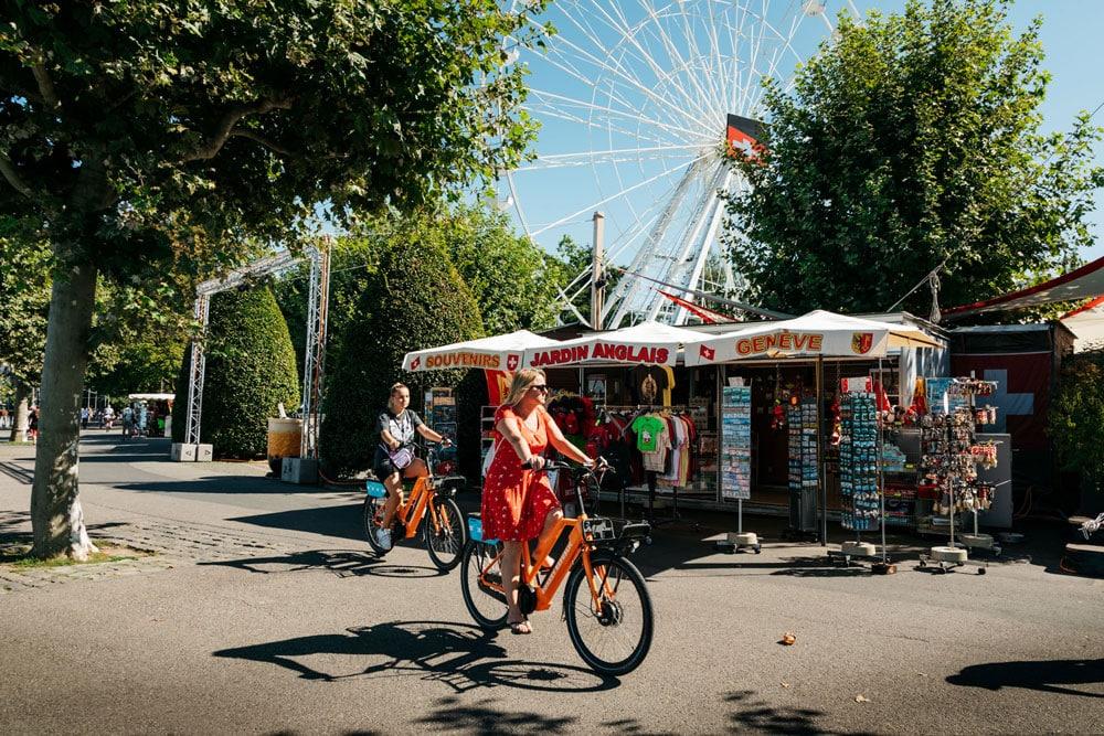 visiter jardin des Anglais à vélo week-end nature à Genève