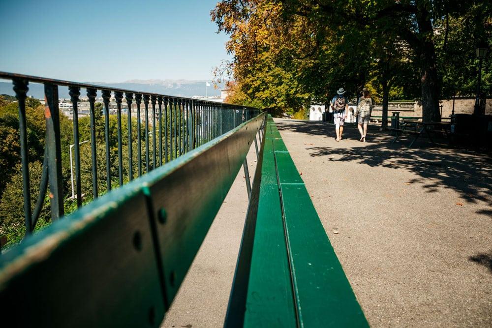 voir le plus long banc du monde Genève week-end