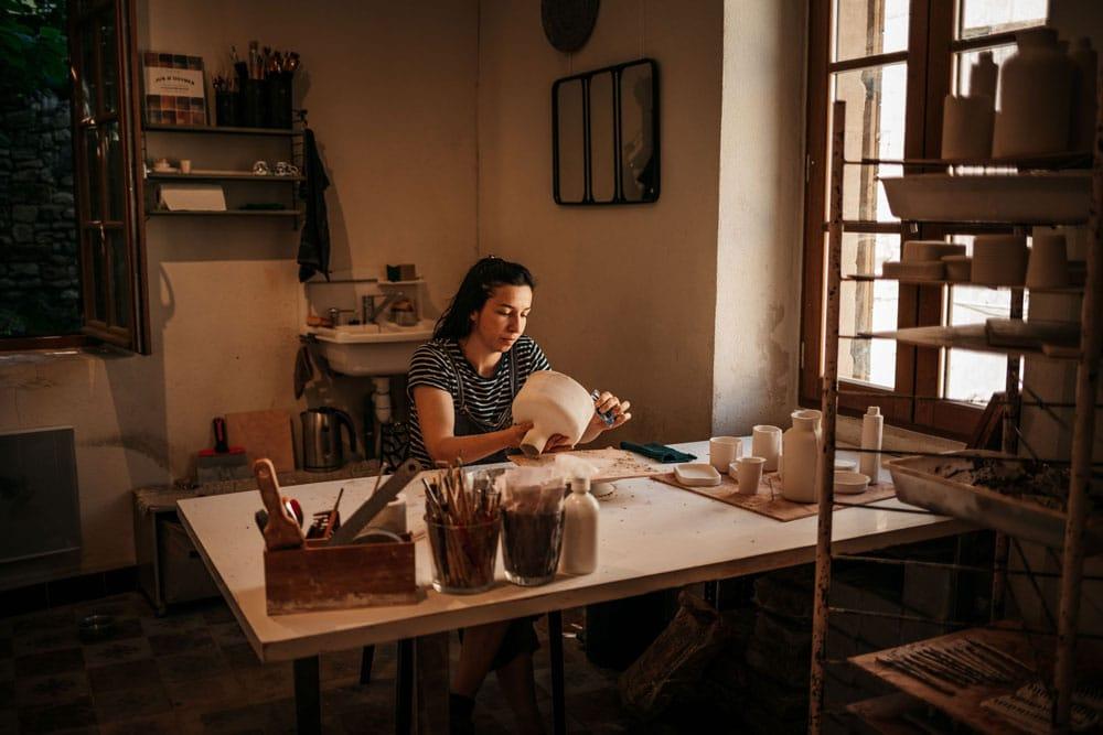 atelier boutique céramique Beaucaire Vallabrègues