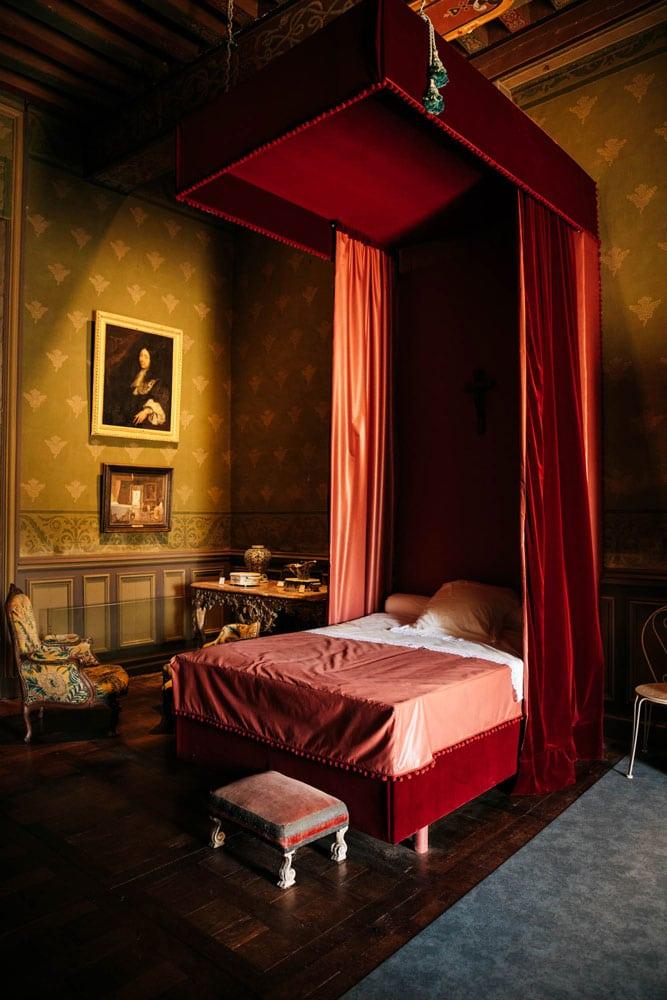 chambre marquise de Sevigné château Vitré