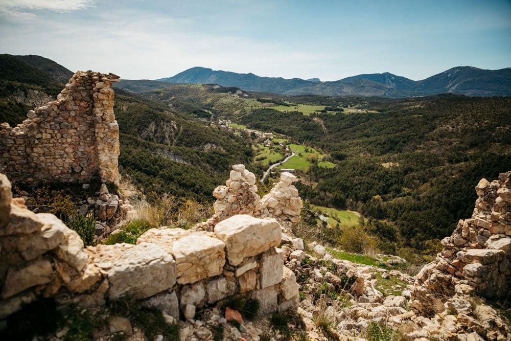 itinéraire randonnée ruines de Peyroules