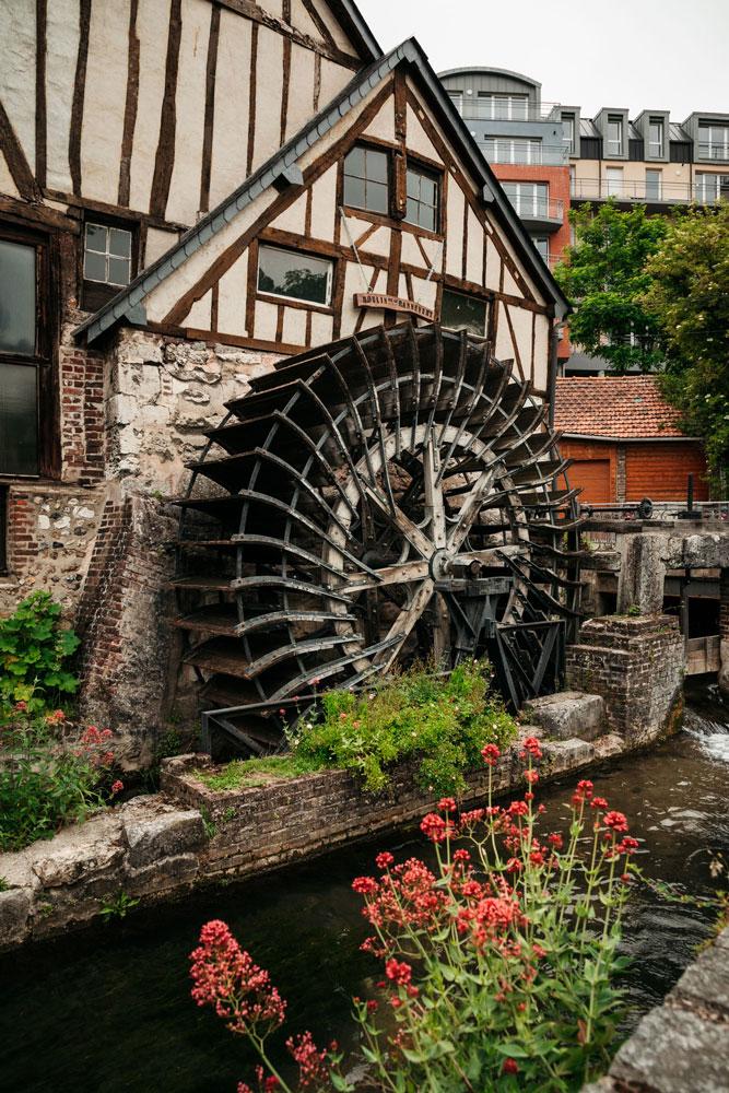 où voir les moulins de Rouen