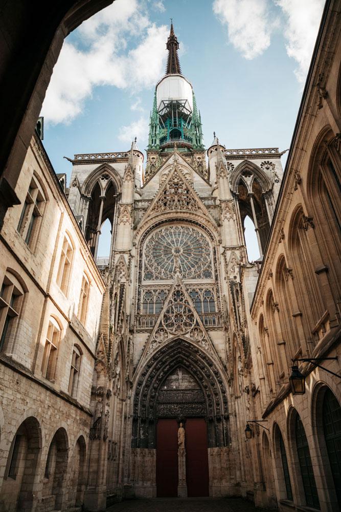 plus belle vue sur cathédrale de Rouen