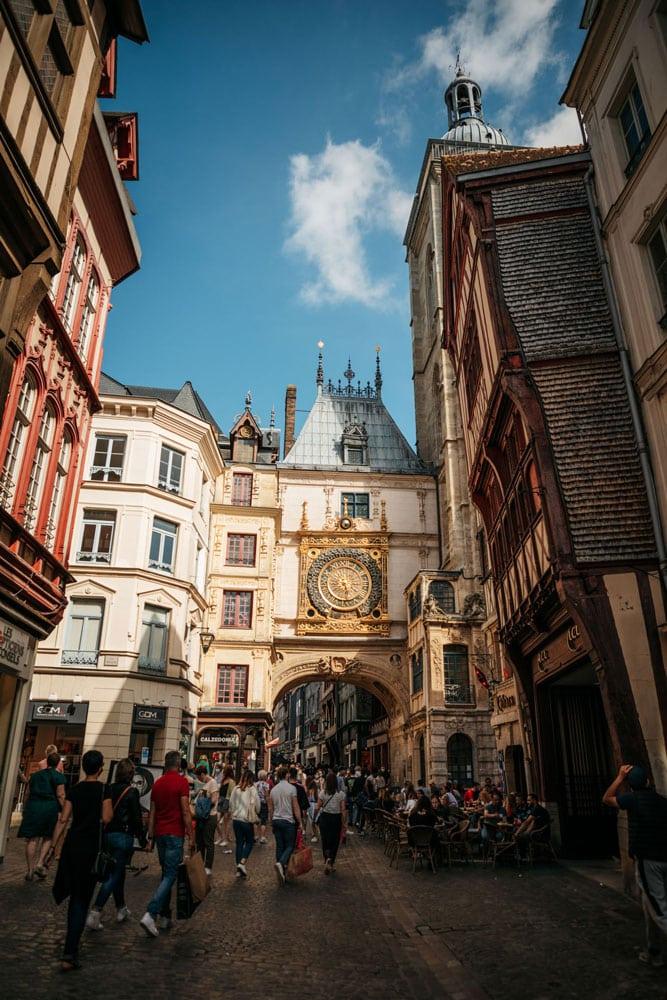 Rouen faire Gros-Horloge panorama