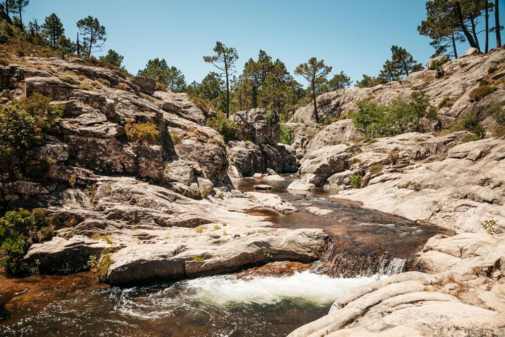cascades et rivières de Corse du Sud