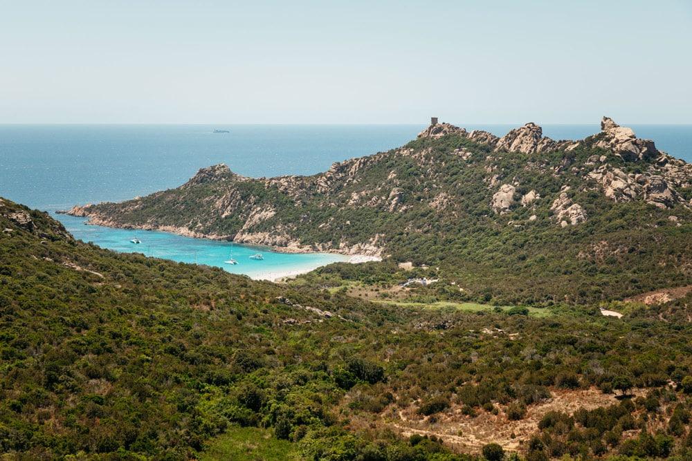 plage de Roccapina en Corse au sud